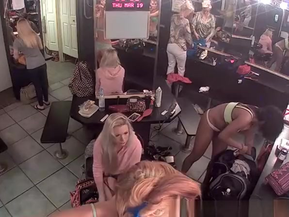 Video record of a strippers dressing room