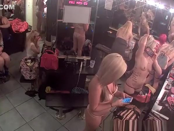 Camera in stripper's change room