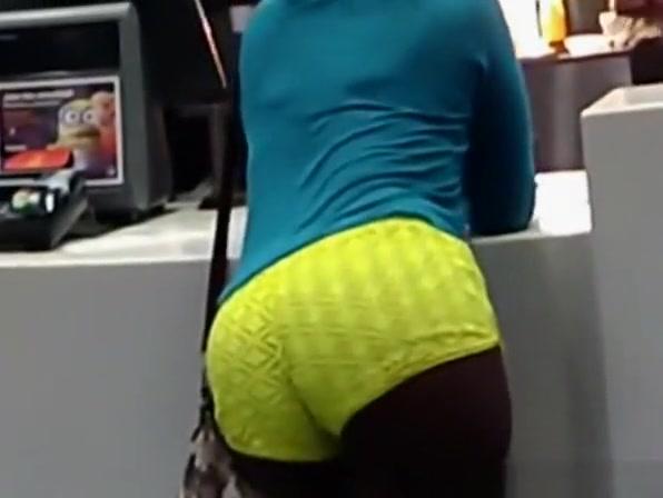 Ebony yellow booty shorts