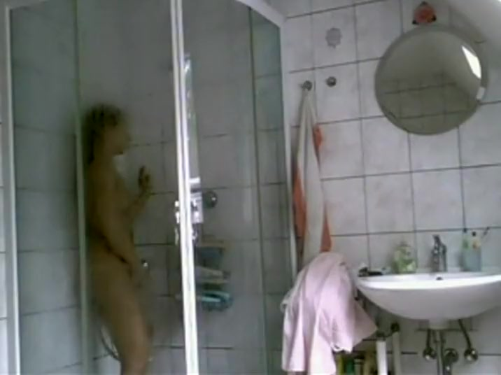 Catching her masturbate in the shower