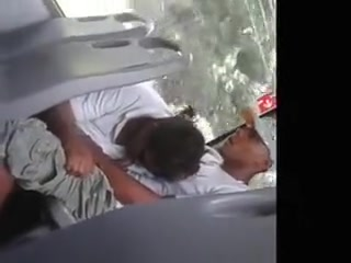 Hardcore blowjob on the public transport