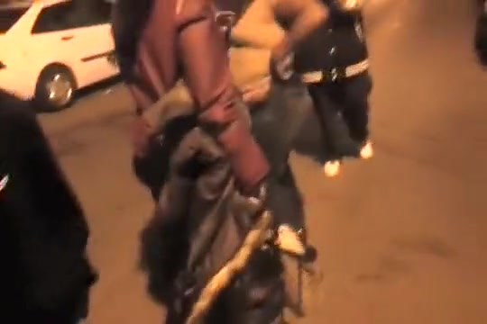 Bare chocolate booties in the female street fight