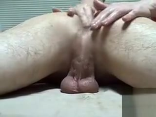 Shemale masseuse gives my asshole a rubdown