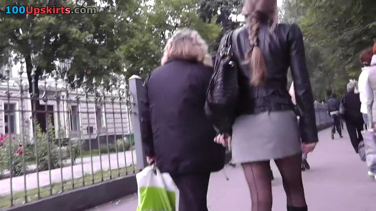 Real upskirt erotica from underground girl