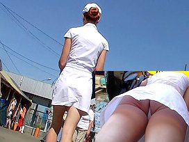 White panty up white suit